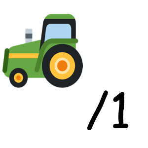 Tractor : 1
