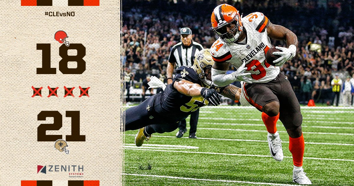 Die-Hard Cleveland Browns Fan Analysis: Week 2 '18-'19